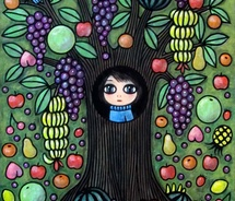 albero,albero,casa,ambiente,anoko,s,tree,house,art,arte,casa,cute,dipinto,environment,exhibition,eyes,fruits,frutta,green-6fbc0fe953b413f0adf2ad775db9ff68_m