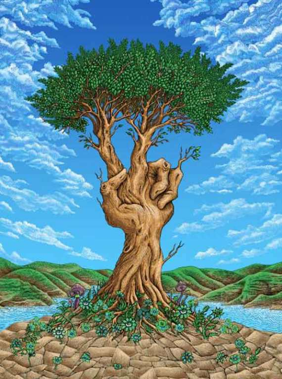 emek-peach-tree-art-print