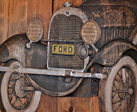 Antique-Wood-Garage-Entrance-Door-Carved