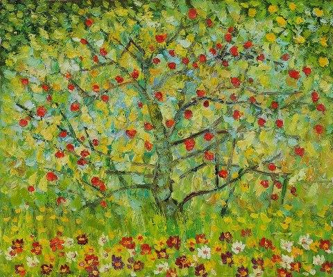 Gustav Klimt The apple tree