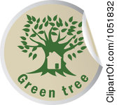 1051832-Royalty-Free-Vector-Clip-Art-Illustration-Of-A-Green-Tree-Sticker-Logo-1