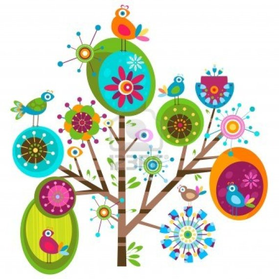12496463-whimsy-flower-tree-and-birds