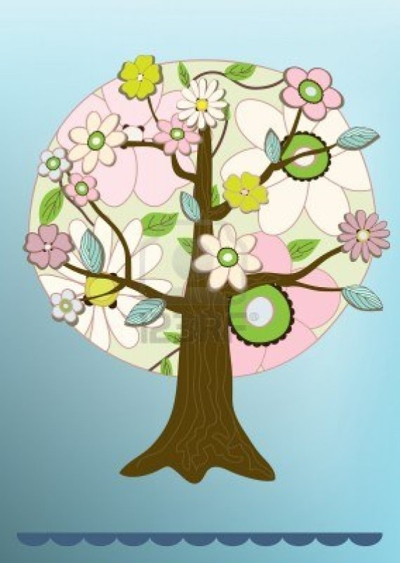 5655396-flower-tree-felicitation-card-vector-illustration