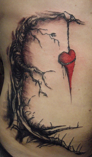 Fashionable & sexy tree tattoos 3