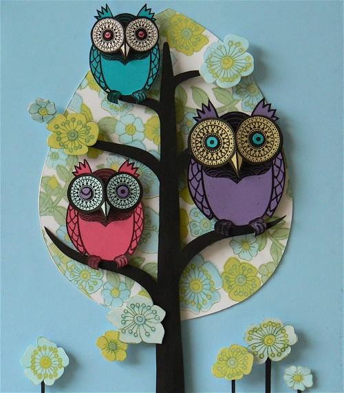 flower-tree-owls