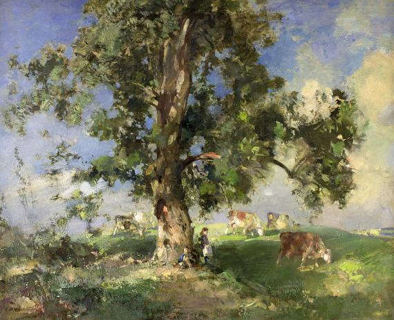 the-old-ash-tree-edward-arthur-walton