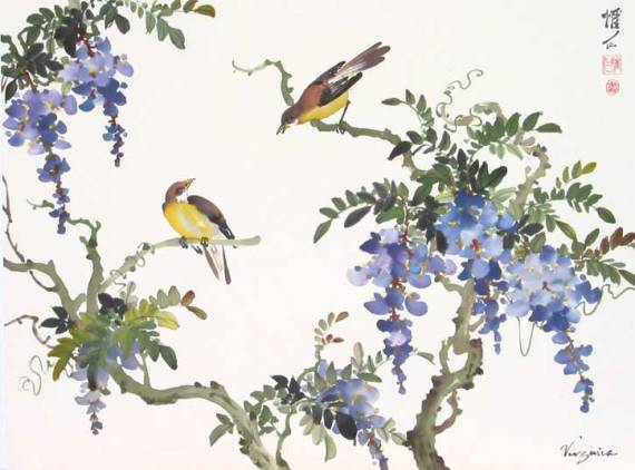Wisteria-and-Birds