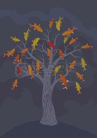 19421008-fish-tree-vector-drawing