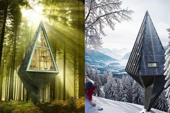 Single-Pole-House