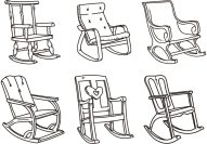 rocking-chair-vector-sketches