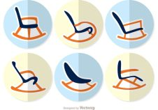 rocking-chairs-flat-design-vectors